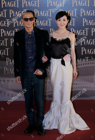 Amber Kuo Hong Kong actor Nick Cheung, left, and Taiwan actress-singer Amber Kuo pose on the red carpet of the Hong Kong Film Awards in Hong Kong