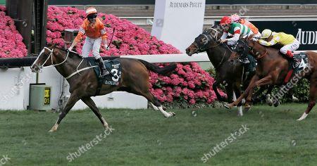 Neil Callan Irish jockey Neil Callan riding Hong Kong horse Blazing Speed, left, celebrates after winning the 2,000-meter Audemars Piguet Queen Elizabeth II Cup horse race at Shatin race track in Hong Kong