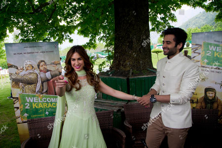 "Bollywood actors Lauren Gottlieb and Jackky Bhagnani attend a promotional event for their upcoming movie ""Welcome to Karachi"" in Srinagar, Indian controlled Kashmir, . The movie is scheduled to be released on May 21. Gottlieb is a contemporary dancer and actor from Arizona, U.S"