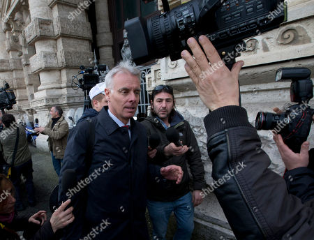 Stock Image of Amanda Knox's lawyers Carlo Dalla Vedova arrives at Italy's highest court building, in Rome, . American Amanda Knox and her Italian ex-boyfriend Raffaele Sollecito expect to learn their fate Friday when Italy's highest court hears their appeal of their guilty verdicts in the brutal 2007 murder of Knox's British roommate Meredith Kercher. Several outcomes are possible, including confirmation of the verdicts, a new appeals round, or even a ruling that amounts to an acquittal in the sensational case that has captivated audiences on both sides of the Atlantic