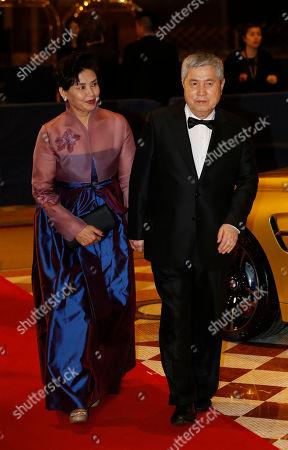 Im Kwon-taek South Korean film director Im Kwon-taek, right, walks on the red carpet of the Asian Film Awards in Macau