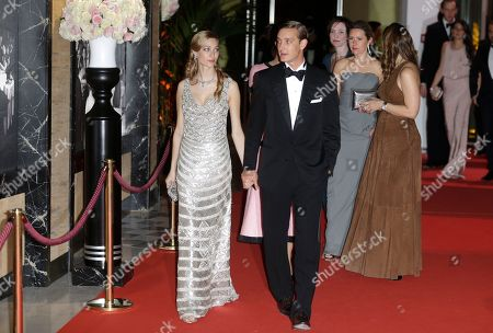 Pierre Casiraghi with his girlfriend countess Beatrice Boromeo arrive at the Rose Ball in Monaco, . The Rose Ball is the traditional annual charity event in the Principality of Monaco