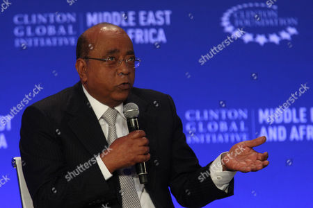 Mo Ibrahim, Founder and Chairman of, Mo Ibrahim Foundationat the Clinton Global Initiative Middle East & Africa meeting in Marrakech, Morocco