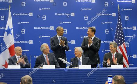 Editorial photo of Obama Americas Summit Boeing, Panama City, Panama