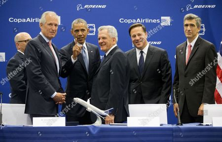 Editorial picture of Obama Americas Summit Boeing, Panama City, Panama