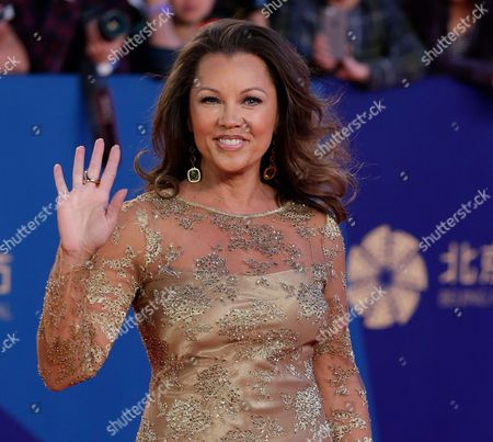Stock Picture of Vanessa Williams Vanessa Williams waves as she arrives on the red carpet for the closing ceremony of the 5th Beijing International Film Festival in the Huairou district of Beijing. Saturday, July 4, 2015. A representative for the singer-actress on Sunday, July 5, 2015 said Williams and her fiance, Jim Skrip wed on Saturday. No details of the ceremony were provided