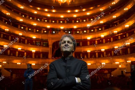 Vincent de Kort On, Dutch opera conductor Vincent de Kort poses for a photo prior to the premiere of the theatrical production Dona Nobis Pacem, choreographed and staged by Vladimir Vasiliev, Bolshoi Theatre, Moscow, Russia