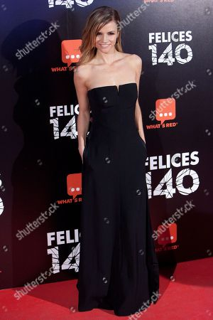 Paula Cancio Spanish actress Paula Cancio poses for photographers during the premiere of the spanish film: 'Felices 140' in Madrid on