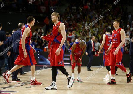 Andrei Kirilenko CSKA Moscow's Andrei Kirilenko, centre, gestures as they lose their Euroleague Final Four semifinal basketball match between CSKA Moscow and Olympiacos in Madrid, Spain