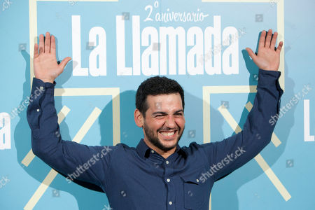 Fran Perea Spanish actor Fran Perea poses for photographers during the second anniversary of the theater play: 'La Llamada' in Madrid, Spain, on
