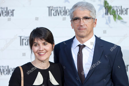 Stock Image of Maria Belon, Enrique Alvarez Maria Belon and her husband Enrique Alvarez, known for surviving the 2004 Indian Ocean earthquake and tsunami when she was on vacation in Thailand, their story inspired the movie 'The Impossible' pose for photographers during the photocall of the 'Conde Nast Traveler Awards' in Madrid, Spain on
