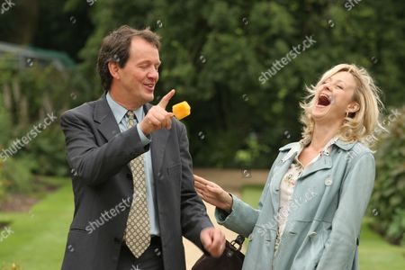 Stock Photo of Kevin Whately and Lizzy McInnerny in 'Lewis' - 2006