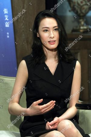 """Stock Image of Isabella Leong Macanese actress Isabella Leong speaks during an interview with The Associated Press for her latest movie """"Murmur of the Hearts"""" in Taipei, Taiwan, . The film premiers in Taiwan on April 10"""