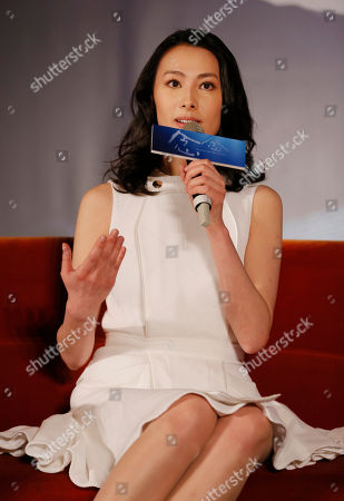 """Isabella Leong Macanese actress Isabella Leong answers questions from the media during a promotional event for her new latest movie """"Murmur of the Hearts"""" in Taipei, Taiwan, . The film premiers in Taiwan on April 10"""