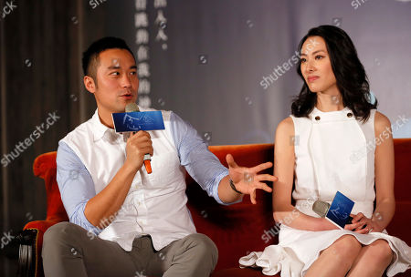 """Joseph Chang, Isabella Leong Taiwanese actor Joseph Chang and Macanese actress Isabella Leong answer questions from the media during a promotional event for their latest movie """"Murmur of the Hearts"""" in Taipei, Taiwan, . The film premiers in Taiwan on April 10"""
