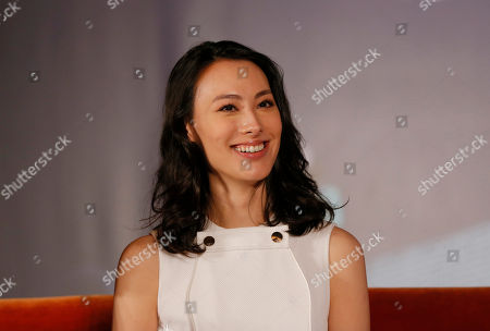"""Isabella Leong Macanese actress Isabella Leong answers questions from the media during a promotional event for her latest movie """"Murmur of the Hearts"""" in Taipei, Taiwan, . The film premiers in Taiwan on April 10"""