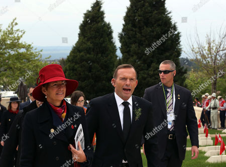 Tony Abbott, Margie Abbott Australia's Prime Minister Tony Abbott and his wife Margie Abbott arrive for a ceremony at the 57th Turkish Regiment cemetery and memorial site at the Gallipoli peninsula, Turkey, . As world leaders gather with the descendants of the fighters in Gallipoli, the memories of one of the most harrowing campaigns of the 20th century have come surging back to life. The doomed Allied offensive to secure a naval route from the Mediterranean to Istanbul through the Dardanelles, and take the Ottomans out of the war, resulted in over 130,000 deaths on both sides