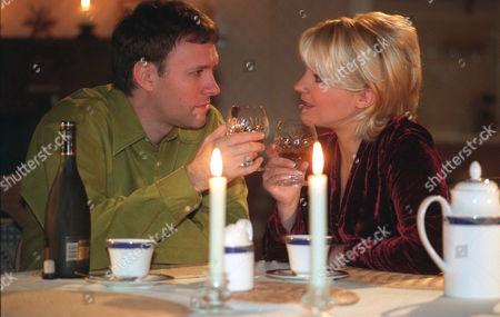 'Emmerdale'  TV - 2000  Graham [Kevin Pallister] and Kathy Glover [Malandra Burrows]