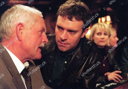 'Emmerdale'  TV - 2000  Eric Pollard [Chris Chittell] and Graham [Kevin Pallister]
