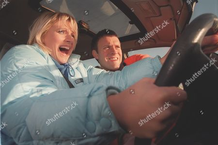 'Emmerdale'  TV - 2000  Kathy [Malandra Burrows] and Graham [Kevin Pallister]