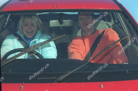 Stock Photo of 'Emmerdale'  TV - 2000  Kathy Glover [Malandra Burrows] and Graham [Kevin Pallister]