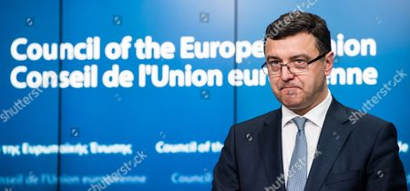 Janis Reirs Latvian Finance Minister Janis Reirs pauses as he addresses the media after a meeting of EU finance ministers at the EU Council building in Brussels on . Greek shares led a European retreat Tuesday as investors reacted negatively to the breakdown in talks between Greece and its creditors in the 19-nation eurozone over the country's attempt to renegotiate its financial bailout