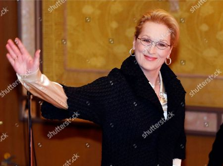 """Actress Meryl Streep arrives for a photocall for her film """"Into the Woods"""" in Tokyo. No actor or actress can match Streep's 19 Academy Award nominations, and only Katharine Hepburn has bested her three Oscars for acting. So maybe it's conceivable that Streep's letter on Tuesday, June 23, to each member of Congress can somehow revive the Equal Rights Amendment, politically dormant since its high-water mark four decades ago"""
