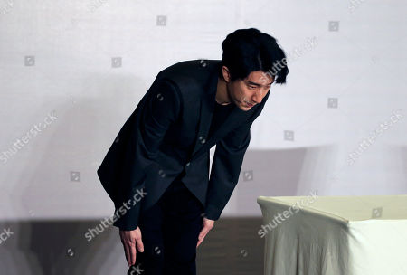 Jaycee Chan Hong Kong actor Jaycee Chan bows after a news conference at a hotel in Beijing . Chan, son of actor Jackie Chan has apologized and asked for a second chance following his release from a six-month jail sentence for allowing people to use marijuana in his apartment