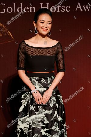 "Zhang Ziyi Chinese actress Zhang Ziyi poses on the red carpet at the 51st Golden Horse Awards in Taipei, Taiwan. Zhang who gained international fame for her role in ""Crouching Tiger, Hidden Dragon"" has accepted a marriage proposal delivered by drone during her pre-birthday celebration on . Her boyfriend Wang Feng, a Chinese rock singer and composer, retrieved the engagement ring from inside the drone and then got down on one knee and popped the question. Zhan turned 36 on Monday, Feb. 9"