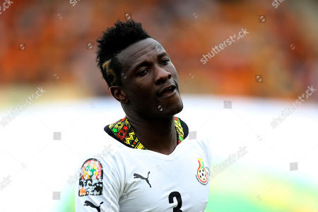 Ghana's Asamoah Gyan is seen during their African Cup of Nations quarter final soccer match with Guinea at the Estadio De Malabo, Equatorial Guinea
