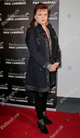 French actress Catherine Jacob poses during the French Lumieres Award ceremony in Paris