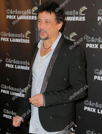 "Tunisian born French actor Abel Jafri poses during at the French Lumieres Awards ceremony in Paris, Monday, Feb.2, 2015. The film ""Timbuktu"" by Mauritanian film director Abderrahmane Sissako, in which Jafri plays the role of Abdelkrim, was awarded Best Film at the ceremony, during which international media journalists based in Paris vote to award their own prizes to members of the French and francophone film industry. Sissako was awarded best director"