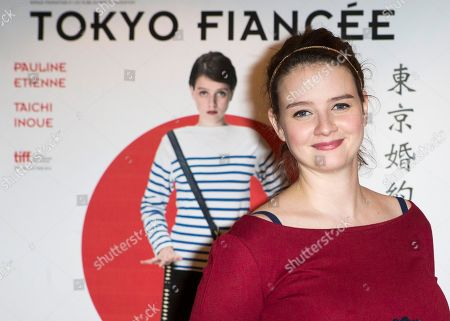 French actress Pauline Etienne poses for photographers, during the premiere of the film Tokyo Fiancee, in Paris, France