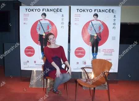"French Actress Pauline Etienne poses for his movie ""Tokyo Fiancee"" in Paris, France"