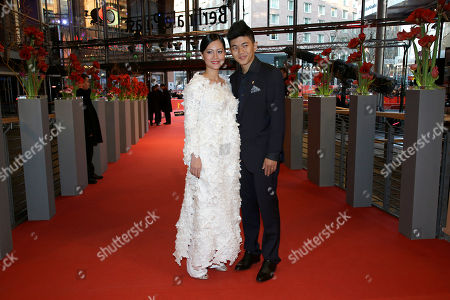 Do Thi Hai Yen, Le Cong Hoang Actress Do Thi Hai Yen and actor Le Cong Hoang pose for photographers on the red carpet for the film Big Father, Small Father and Other Stories (Cha va Con va) at the 2015 Berlinale Film Festival in Berlin