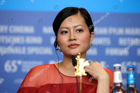 Actress Do Thi Hai Yen during the press conference for the film Big Father, Small Father and Other Stories (Cha va Con va) at the 2015 Berlinale Film Festival in Berlin