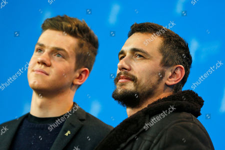 Actors Robert Naylor and James Franco pose for photographers at the photo call for the film Every Thing Will Be Fine at the 2015 Berlinale Film Festival in Berlin