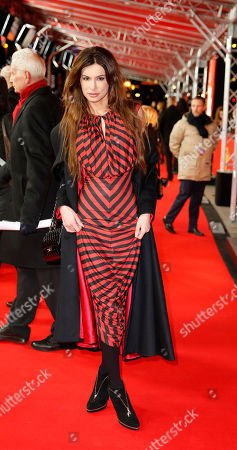 Model Joanna Tuczynska poses on the red carpet for the film Love & Mercy at the 2015 Berlinale Film Festival in Berlin, Germany