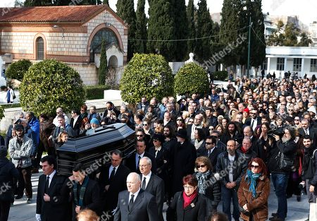 Editorial photo of Greece Demis Roussos Funeral, Athens, Greece