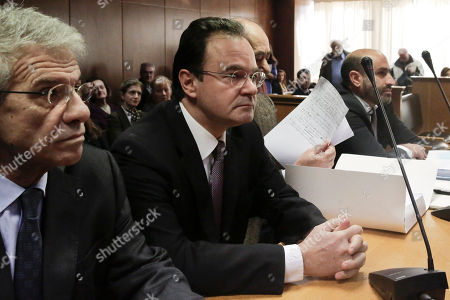 George Papaconstantinou Former Greek finance minister George Papaconstantinou, second left, sits in court next to his lawyers, on at the start of a criminal trial against him on allegations he removed relatives' names from a list of Greeks holding Swiss bank accounts in HSBC.Papaconstantinou, 53, denies charges that he doctored the document, known in Greece as the Lagarde List, to remove three of his relatives. He was finance minister from late 2009 to mid 2011 and It was under him that Greece signed its first international bailout in May 2010