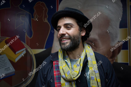 Oscar Isaac, Gaby Moreno Actor Oscar Isaac stands backstage after performing during a concert with Guatemalan singer Gaby Moreno in Guatemala City, early