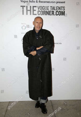 """Michel Comte arrives for the """"Vogue Talents Corner.com"""" party during the Milan Fashion Week, unveiled in Milan, Italy"""