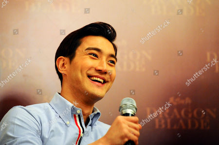 "Choi Siwon South Korean actor Choi Si-won speaks during a press conference to promote his new movie ""Dragon Blade"" in a hotel in Kuala Lumpur, Malaysia, on"