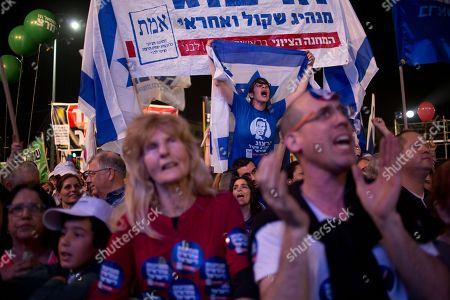 Editorial photo of Mideast Israel Election, Tel Aviv, Israel