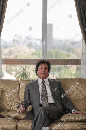 Ahmed Qaddaf al-Dam, cousin of Libya's former president Muammar Gaddafi at his apartment, in Cairo, Egypt