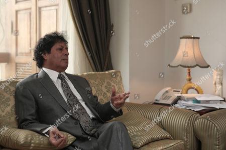Ahmed Qaddaf al-Dam, cousin of Libya's former president Muammar Gaddafi, at his apartment in Cairo, Egypt