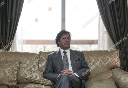 Ahmed Qaddaf al-Dam, cousin of Libya's former president Muammar Gaddafi, at his apartment in in Cairo, Egypt