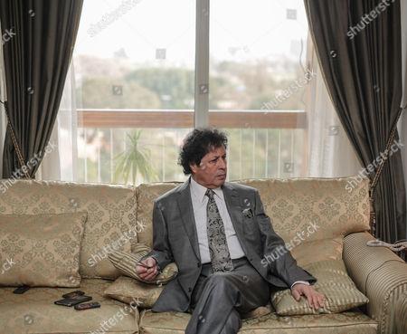 Ahmed Qaddaf al-Dam, cousin of Libya's former president Muammar Gaddafi, at his apartment, in Cairo, Egypt