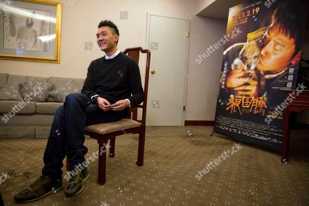 """Chinese actor Feng Shaofeng talks about his latest work titled """"Wolf Totem"""" during an interview in Beijing. Asia is gearing up for the Oscars, even though the region's films are missing from the shortlists"""