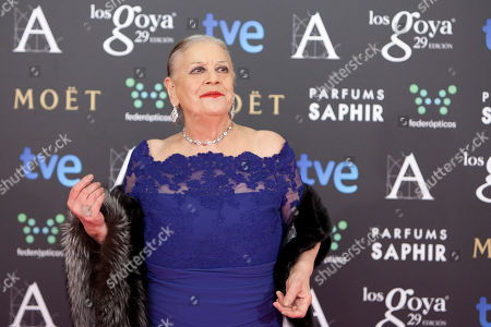 Terele Pavez Spanish actress Terele Pavez poses for photographers on the red carpet before the Goya Film Awards Ceremony in Madrid, Spain